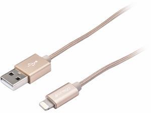 CIRAGO IPLBR03GLD Gold Lightning Braided Cable