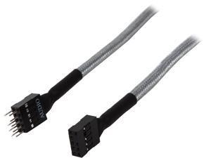 """BitFenix BFA-MSC-AUD30SK-RP 11.81"""" Audio Extension Cable M-F"""