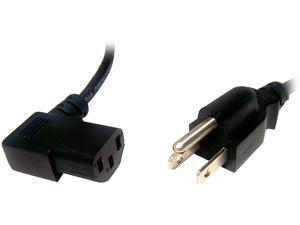 Micro Connectors Model M05-113RA 6 ft. AC Power cord UL Approved Right Angle