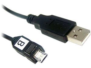 Micro Connectors E07-131 6 ft. Black USB to Micro USB Cable