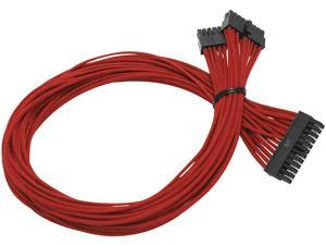Individually Sleeved Cable Set for EVGA B2/G2/P2 Power Supply / PSU (Red) - EVGA 100-CR-1300-B9