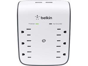 BELKIN BSV602 Wall Mount 900 joule USB Wall Mount (10 Watts, Combined)