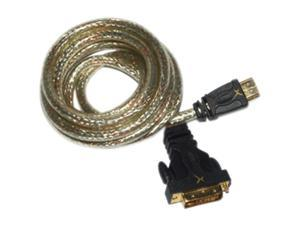 GoldX GXHD-DA-06 6 ft. HDMI 19 pin to DVI digital single link cable