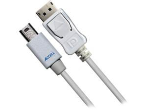 Accell Model B119B-007J 6.6 ft. Mini DisplayPort to DisplayPort Cable
