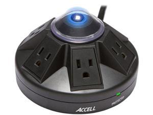 ACCELL D080B-013K 4 ft. 6 Outlets 1080 Joules Power Center and Surge Protector
