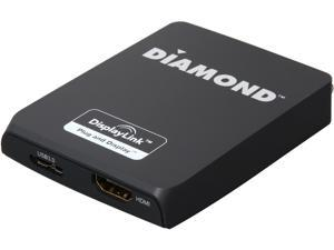 Diamond Multimedia MDS3900 USB 3.0/2.0 to HDMI/DVI Mini Ultra Dock, Dual Head Multiple Display Monitors up to 2560 x 1600