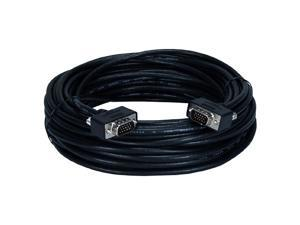 QVS CC388M1-75 75 ft. High Performance UltraThin HD15 Tri-Shield Fully-Wired Cable with Interchangeable Mounting