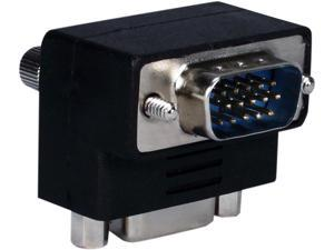 QVS VGA HD15 Down-Angle Male to Female Video Adaptor