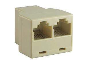 Insten 675688 RJ45 1x2 Ethernet Connector Splitter, Light Beige