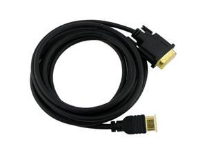 Insten 675420 10 ft. Black HDMI Male to DVI Male HDMI to DVI Cable M-M