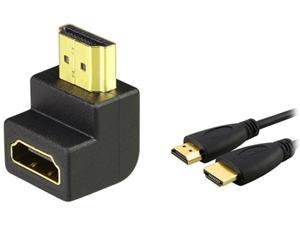 Insten 1044535 1X HDMI F/M Right Angle Adapter