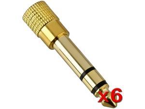 Insten 1161332 6 x 1 / 4 Audio to 1 / 8 Audio M / F Adapter