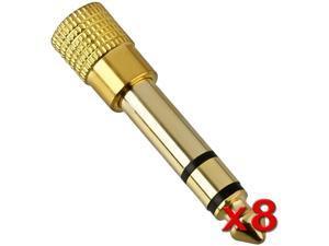 Insten 1161333 8 x 1 / 4 Audio to 1 / 8 Audio M / F Adapter