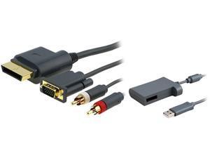 Insten 1647371 6 ft. 1X Premium VGA Cable w/ Digital Optical Audio Port compatible with Microsoft Xbox 360 / Xbox 360 Sli