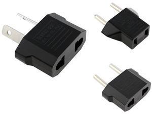 Insten 1926290 US / EU to AU Black + Black US to EU Plug Adapter + AU / US to EU Black Plug Adapter