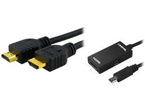 Insten 1926477 Micro USB to MHL Adapter + 3 ft. HDMI Cable For Samsung Galaxy S3 / S4 / S5 / Note 2 / Note 3