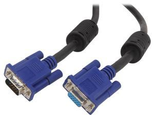 VCOM VC-VGA25F 25 ft. SVGA HD15 Male to Female Black Cable with Blue Connector