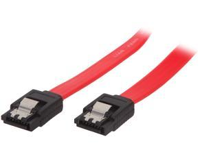 "VCOM VC-SATA24 24"" SATA II Red Cable with Locking Latch"