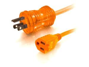 C2G / Cables To Go 48062 75 ft. 16 AWG Hospital Grade Power Extension Cord (NEMA 5-15P TO NEMA 5-15R) - ORANGE