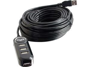 C2G 12m USB 2.0 A Male to A Female 4-Port Active Extension Cable