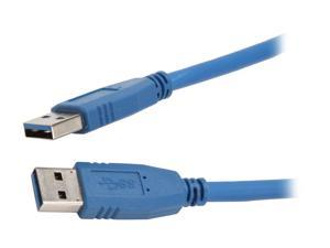 Nippon Labs USB3-6MM 6 ft. Blue USB 3.0 A Male to A Male 6ft Cable 6 feet