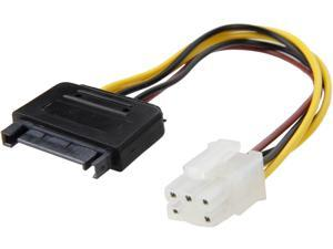 "Nippon Labs SATA-15P6P-0.6FT 8"" SATA 15pin to 6pin PCI Express Card Power Cable Multi-Color"