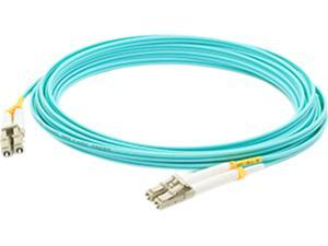 AddOn 1m Laser Optimized Multi-Mode fiber (LOMM) Duplex LC/LC OM4 Aqua Patch Cable