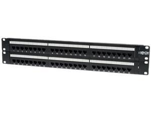 TRIPP LITE 48-Port 2U Rackmount Cat6 110 Patch Panel, 568B, RJ45 Ethernet