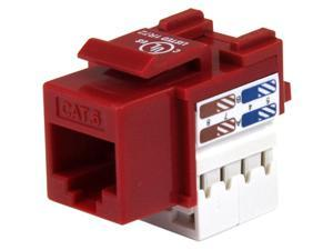 StarTech C6KEY110RD 110 Punch Type Category 6 Keystone Jack - Red