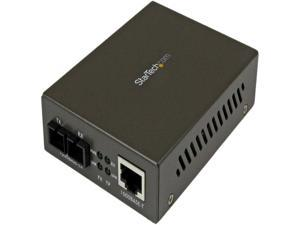 StarTech 1000 Mbps Gigabit Single-Mode Fiber Ethernet Media Converter SC - Convert and extend a Gigabit Ethernet connection up to 15 km over Single Mode SC fiber - fiber converter -gigabit converter