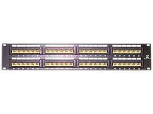 StarTech PANEL4548 45 Degree 48 Port 2U Rackmount Cat5e 110 Patch Panel