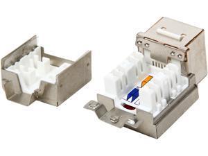 StarTech C6AKEY110WH Shielded Cat 6a Keystone Jack - RJ45 Ethernet Cat6a Wall Jack White