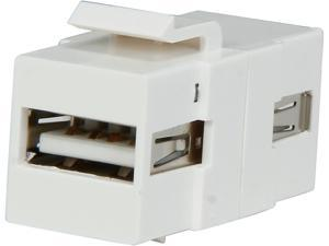C2G 28748 Snap-In USB A/A Female Keystone Insert Module - White