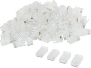 C2G 01949 RJ45 Cat5 8x8 Modular Plug for Flat Stranded Cable - 100pk