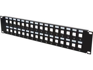 C2G 03860 32-Port Blank Keystone/Multimedia Patch Panel
