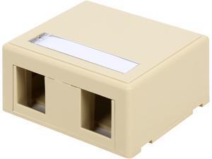C2G 03832 2-Port Keystone Jack Surface Mount Box - Ivory