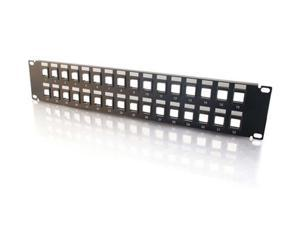 C2G 03857 12-Port Blank Keystone / Multimedia Patch Panel