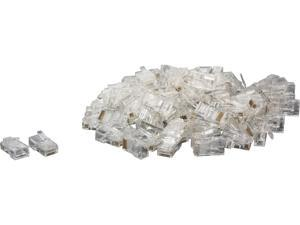 C2G 11381 RJ45 Cat5 8 x 8 Modular Plug for Round Stranded Cable - 100pk