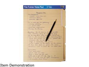 Find It FT07210 File Folder Note Pad 1 Each - Manila Paper