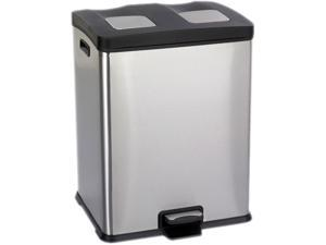 """Safco 9634SS Right-Size Recycling Station 19""""W x 16""""D x 25""""H Stainless Steel - OEM"""