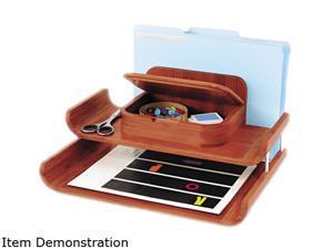 Bamboo Desktop Organizer With Trays, 14 3/4 X 12 1/4 X 7 1/2, Cherry
