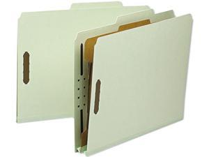 "Classification Folder, 1 Divider, 2"" Exp, 2/5 Cut, Letter, Gray/Green,"