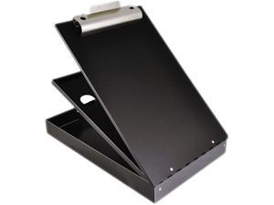 "Saunders 21117 - Cruiser Mate Aluminum Storage Clipboard, 1"" Capacity, Holds 8 1/2 x 12, Black"