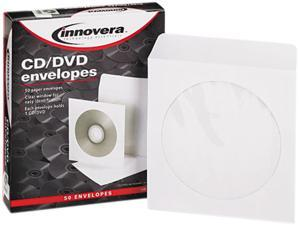 Cd/Dvd Envelopes, Clear Window, White, 50/Box