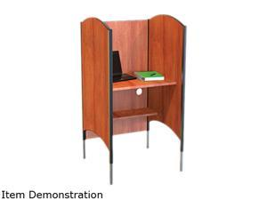 Height-Adjustable Carrel, Laminate, 31W X 30D X 57-1/2 To 69-1/2H, Che