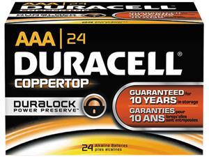 DURACELL 24-pack AAA Coppertop Alkaline Batteries With Duralock Power Preserve Technology