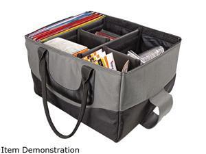 File Tote Bag, 600-Denier Nylon, 14 X 17 X 10-1/2, Gray/Black