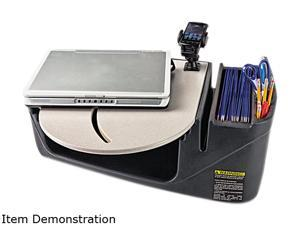 Car Desk With Laptop Mount, Supply Organizer, Gray