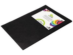 Smart Fab Disposable Fabric, 12 x 18 Sheets, Black, 45 per pack