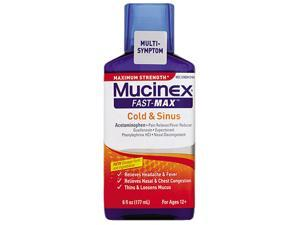 Maximum Strength Fast Max Cold & Sinus, 6 oz Bottle